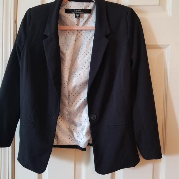 kensie black suit jacket blazer medium